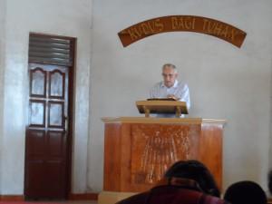 Een kerkdienst